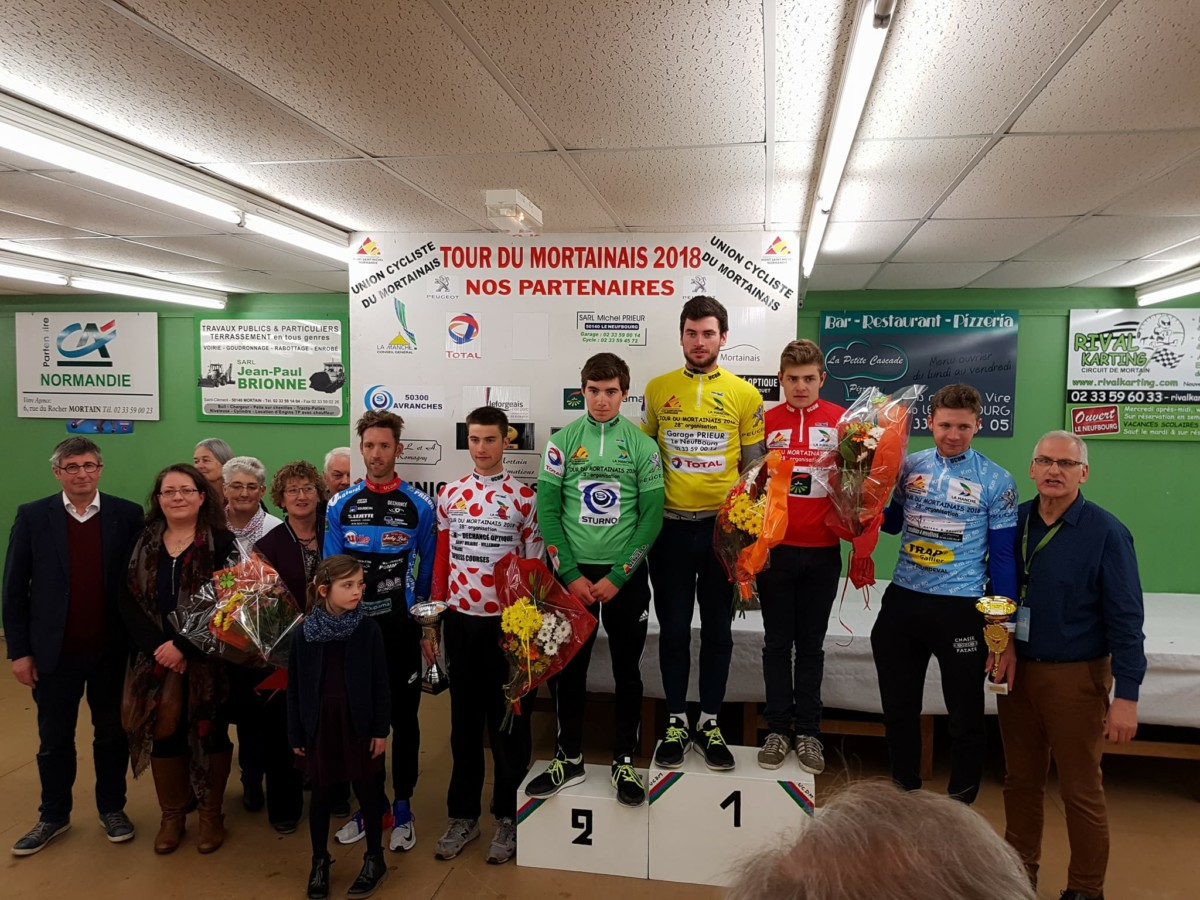 tour du mortainais 2018 podium